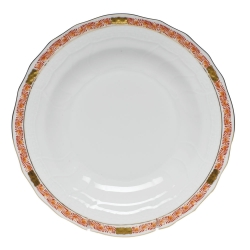 Chinese Bouquet Garland Rust Dessert Plate