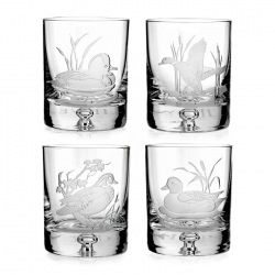 American Ducks Set of Four Double Old Fashioneds