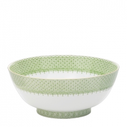 Apple Green Lace Round Bowl