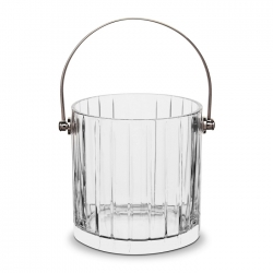 Baccarat Harmonie Ice Bucket w/ stainless handle