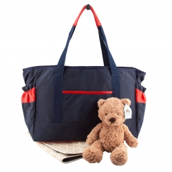Navy/Red Diaper Bag
