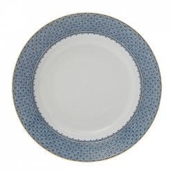 Blue Lace Rim Soup Plate