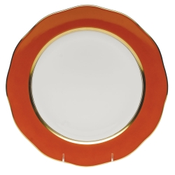 Silk Ribbon Pumpkin Service Plate