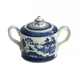 Blue Canton Covered Sugar Bowl