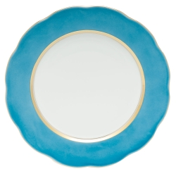 Silk Ribbon Turquoise Service Plate
