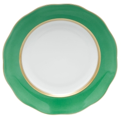 Silk Ribbon Mint Dessert Plate