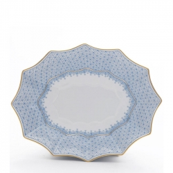 Cornflower Lace Large Fluted Tray