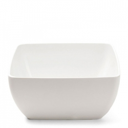 Diamond White Melamine Serving Bowl