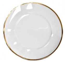 Simply Elegant Gold Salad Plate