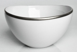 Simply Elegant Platinum Fruit Bowl