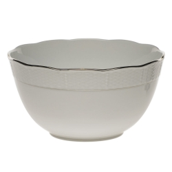 Platinum Edge Round Bowl