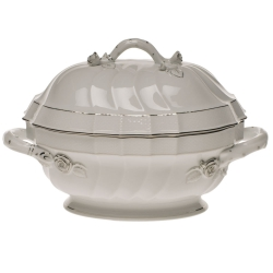 Platinum Edge Tureen with Branch Handles