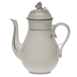 Platinum Edge 36 Ounce Coffee Pot with Rose