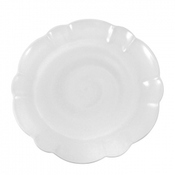 Hartland Scallop Stone Dinner Plate