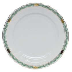 Chinese Bouquet Garland Green Dinner Plate