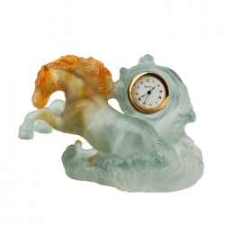 Marly Gray Horse Clock