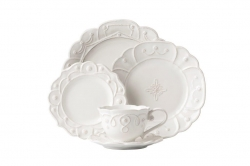Jardins du Monde Whitewash 5 Piece Place Setting