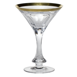 Lady Hamilton Gilded Band Martini Glass