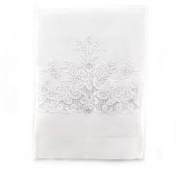 Madeira Hemstitch White Guest Towel