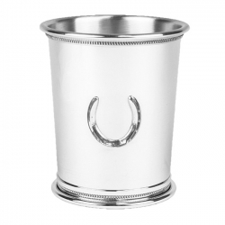Pewter Julep Cup with Horseshoe