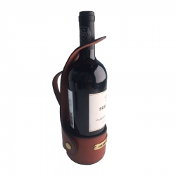 Custom Leather Wine Server