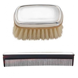 Boy's Sterling Comb and Brush Set