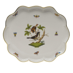 Rothschild Bird Scalloped Tray