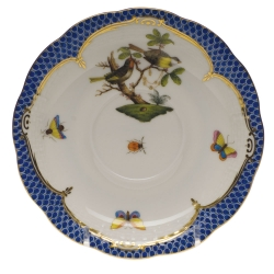 Rothschild Bird Blue Border Tea Cup Saucer - Motif #11