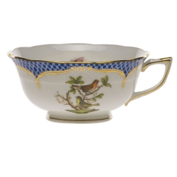 Rothschild Bird Blue Border Tea Cup - Motif #3