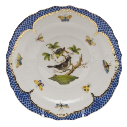 Rothschild Bird Blue Border Salad Plate, Motif #1
