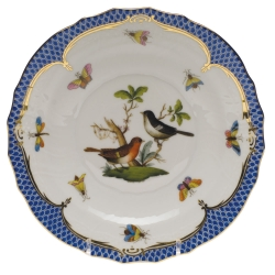Rothschild Bird Blue Border Salad Plate, Motif #5