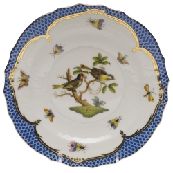 Rothschild Bird Blue Border Salad Plate, Motif #11