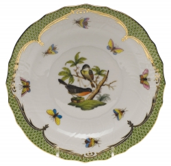 Rothschild Bird Green Border Bread and Butter Plate - Motif #2