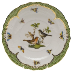 Rothschild Bird Green Border Salad Plate, Motif #5