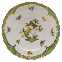 Rothschild Bird Green Border Salad Plate, Motif #6