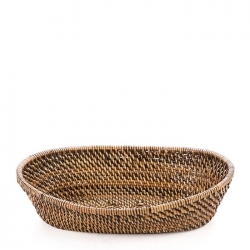 Rattan Small Oval Bread Basket