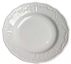 Simply Anna White Rim Soup Bowl