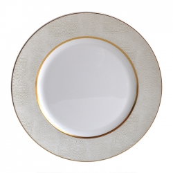 Sauvage White Dinner Plate