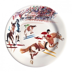 Cavaliers Jump Set of Four Dessert Plates
