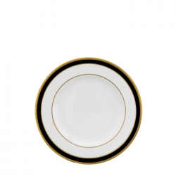 Signature Collection Gold and Black Butter Plate