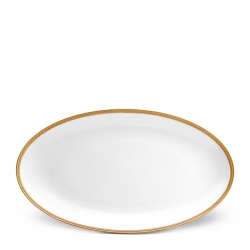 Soie Tress�e Gold Large Oval Platter