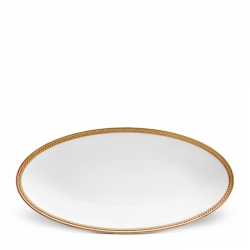 Soie Tress�e Gold Small Oval Platter