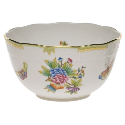 Queen Victoria Green Round Bowl