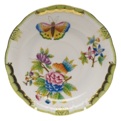 Queen Victoria Greeen Tea Saucer