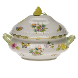 Queen Victoria Green Tureen with Lemon