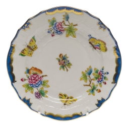 Queen Victoria Blue Bread and Butter Plate