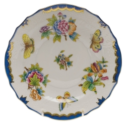 Queen Victoria Blue Salad Plate