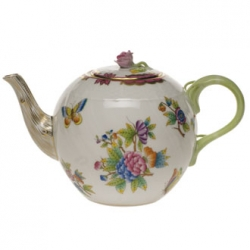 Queen Victoria Raspberry Tea Pot with Rose