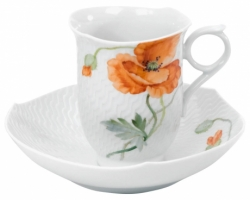 Wild Poppy Coffee Cup & Saucer