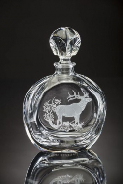 American Wildlife Elk Round Decanter